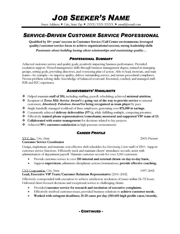 resume examples for customer service skills - zrom.tk